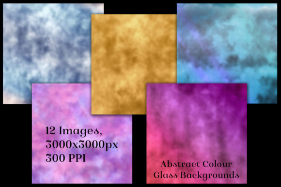 Print on Demand: Abstract Colour Glass Backgrounds Graphic Backgrounds By SapphireXDesigns - Image 2