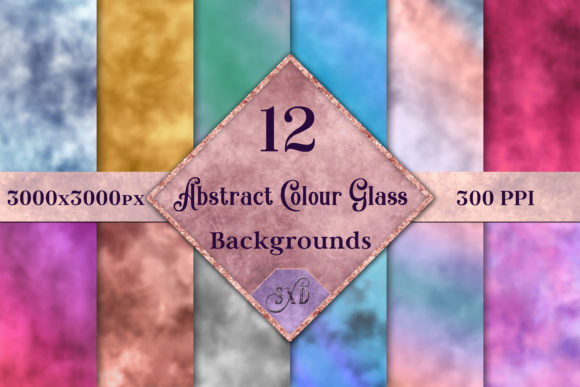 Print on Demand: Abstract Colour Glass Backgrounds Graphic Backgrounds By SapphireXDesigns - Image 1