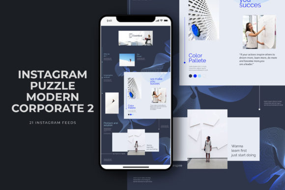 Instagram Puzzle Modern Corporate Graphic Web Elements By qohhaarqhaz