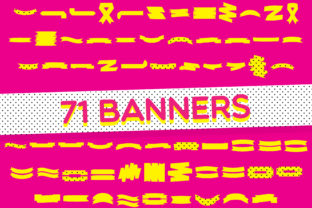 Print on Demand: Banners Dingbats Fuente Por GraphicsBam Fonts