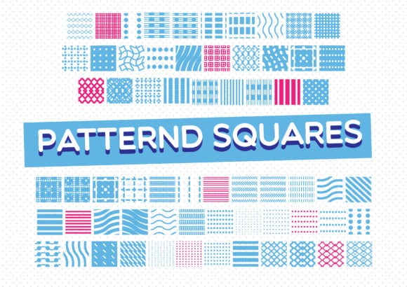 Print on Demand: Patterned Squares Dingbats Font By GraphicsBam Fonts