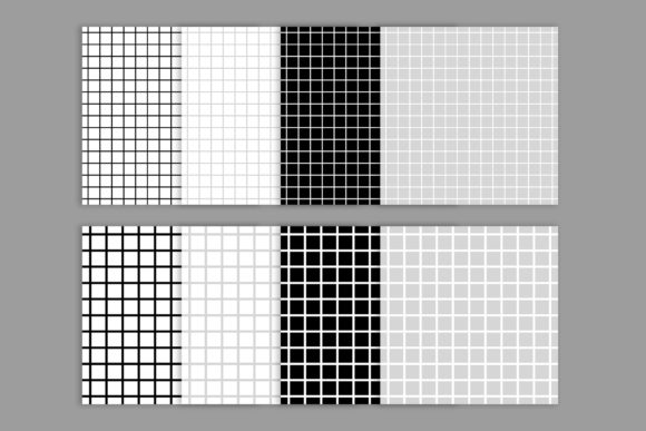 Print on Demand: Black & White Seamless Grid Digital Pape Graphic Patterns By Running With Foxes - Image 2