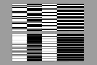 Print on Demand: Black & White Seamless Striped Patterns Graphic Patterns By Running With Foxes 3