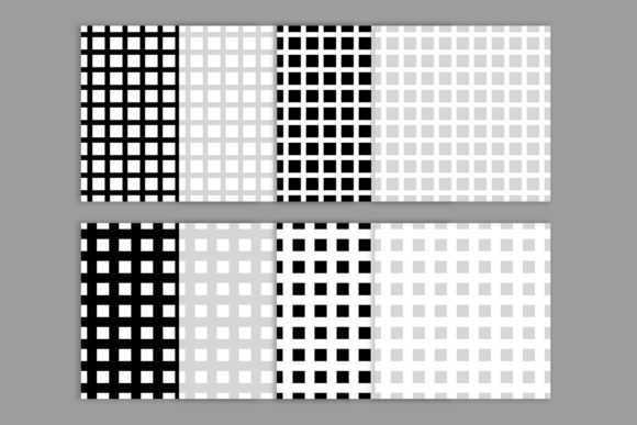 Print on Demand: Black & White Seamless Grid Digital Pape Graphic Patterns By Running With Foxes - Image 3