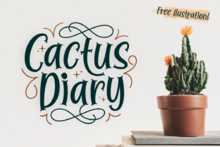 Download Free Cactus Diary Font By Dani 7ntypes Creative Fabrica for Cricut Explore, Silhouette and other cutting machines.