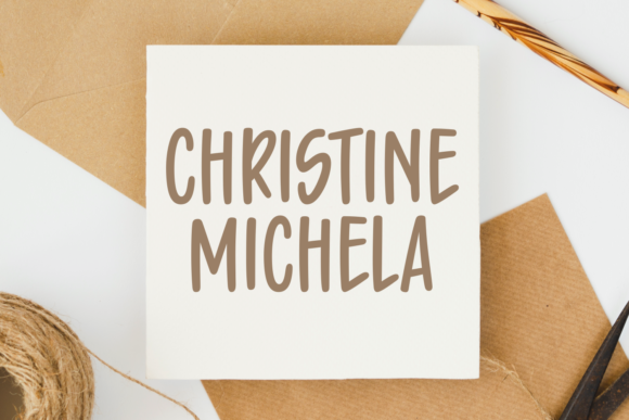 Print on Demand: Christine Michela Script & Handwritten Font By Situjuh