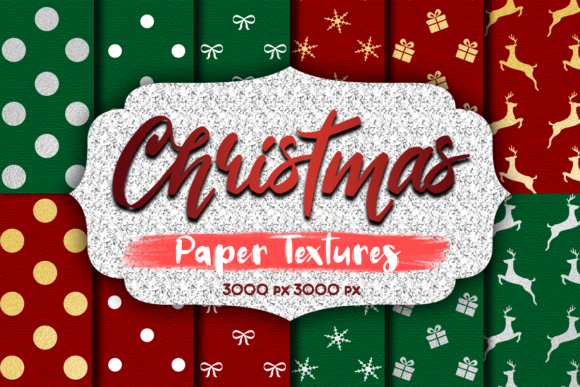 Print on Demand: Christmas Paper Textures Graphic Textures By La Oliveira - Image 1