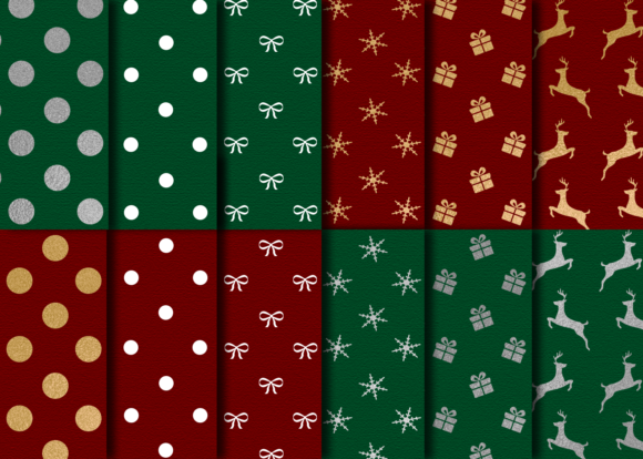 Print on Demand: Christmas Paper Textures Graphic Textures By La Oliveira - Image 2