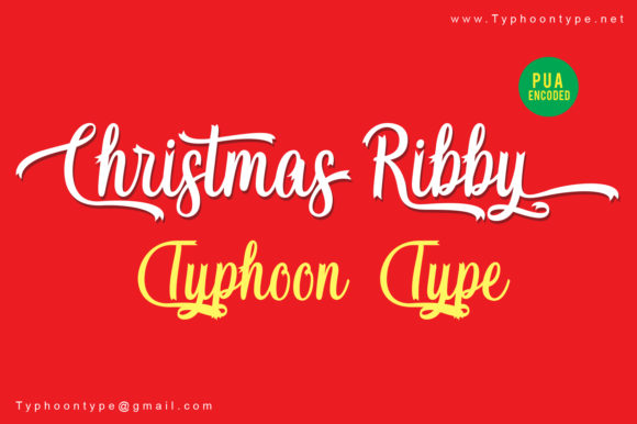 Print on Demand: Christmas Ribby Script & Handwritten Font By Typhoon Type - Suthi Srisopha