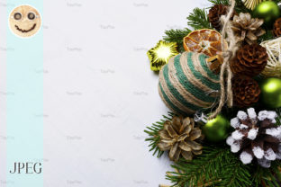 Print on Demand: Christmas Background  with Handmade Graphic Holidays By TasiPas
