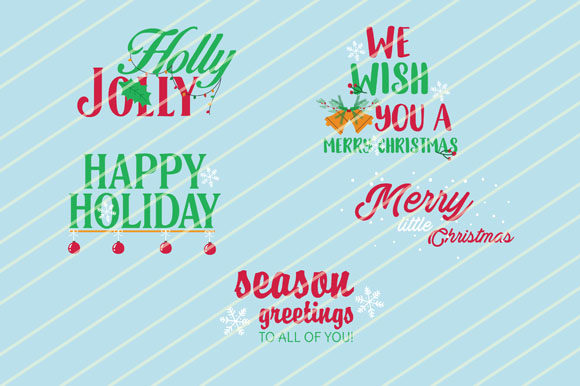 Download Free Christmas Text Collection Graphic By Goldenflower Creative Fabrica for Cricut Explore, Silhouette and other cutting machines.