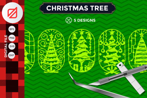 Download Free Christmas Tree Ornament Cutting File V2 Graphic By Illusatrian for Cricut Explore, Silhouette and other cutting machines.