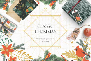 Print on Demand: Classic Christmas. Winter Clipart Set. Graphic Illustrations By dinkoobraz