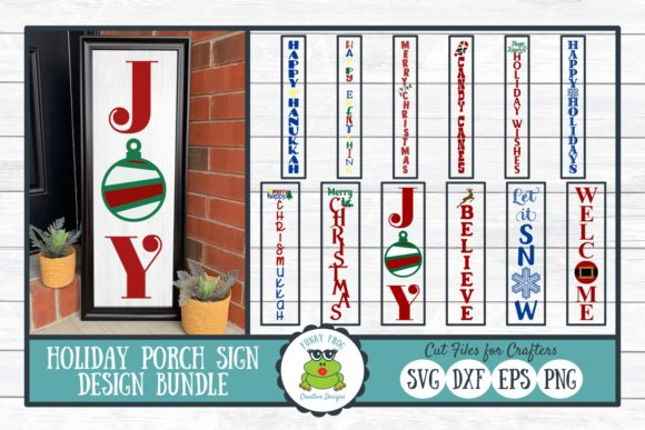 Holiday Porch Sign Design Bundle Graphic Crafts By funkyfrogcreativedesigns
