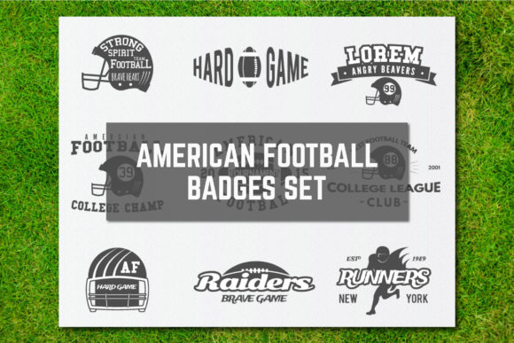 Download Free American Football Logos Bundle Retro Graphic By Jeksongraphics for Cricut Explore, Silhouette and other cutting machines.