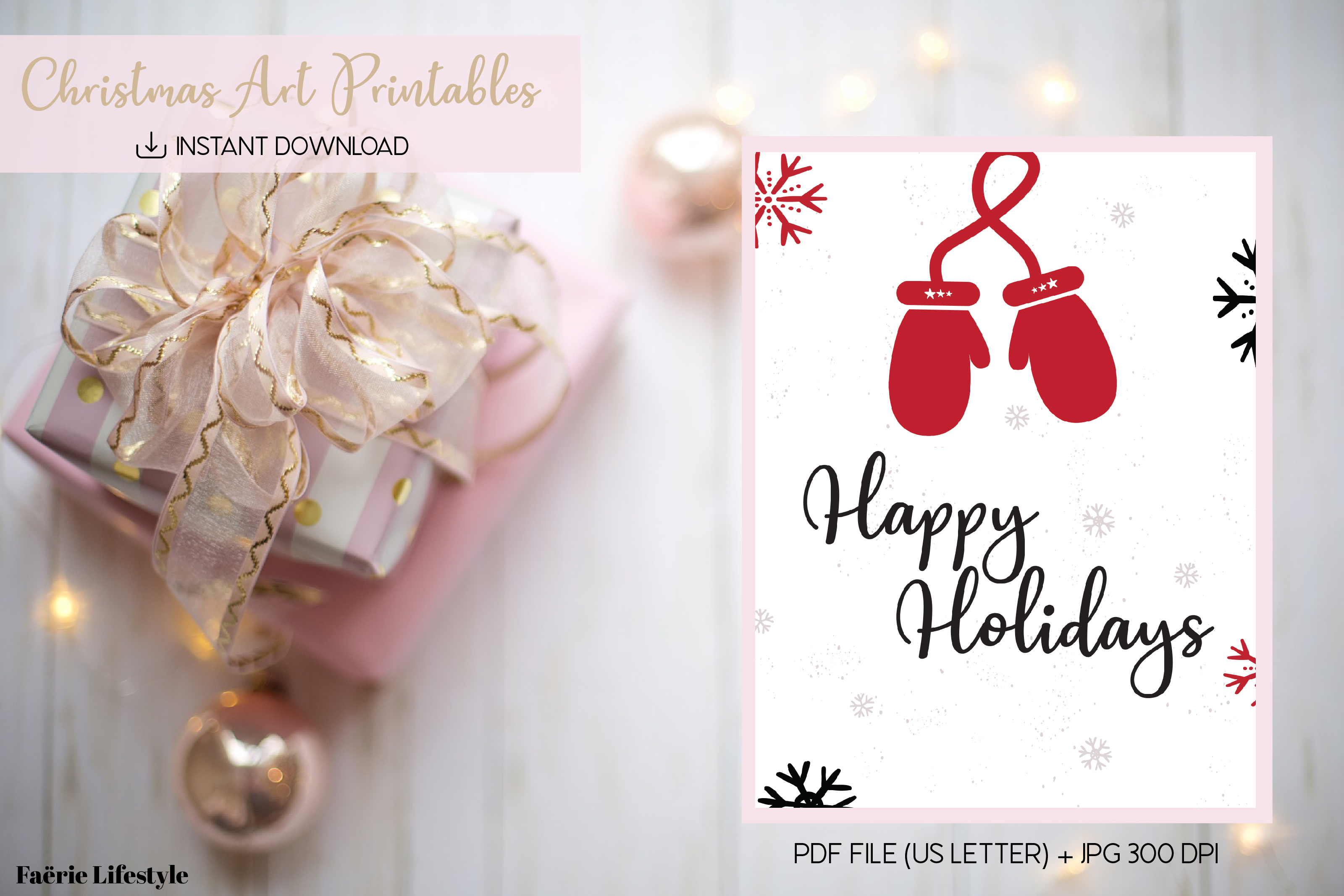 Download Free Happy Holidays Graphic By Faerie Lifestyle Creative Fabrica for Cricut Explore, Silhouette and other cutting machines.