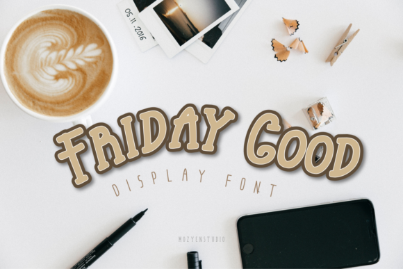 Print on Demand: Friday Good Slab Serif Font By mozyenstudio