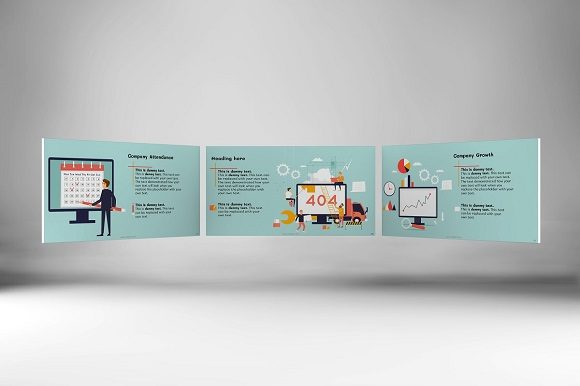 Corporate Functions Keynote Template Graphic Presentation Templates By renure - Image 1