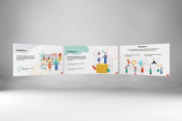 Happy People Keynote Template Set 2 Graphic Presentation Templates By renure - Image 2