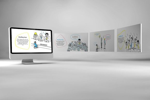 Office Doodle Keynote Template Graphic Presentation Templates By renure