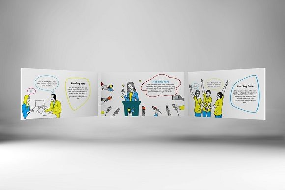 Download Free Office Doodle Keynote Template Graphic By Renure Creative Fabrica for Cricut Explore, Silhouette and other cutting machines.