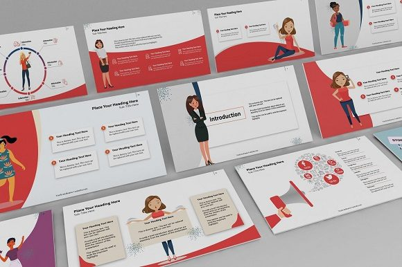 Women Empowerment Keynote Template Graphic Presentation Templates By renure - Image 3