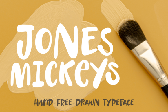 Print on Demand: Jones Mickeys Display Font By Situjuh - Image 1