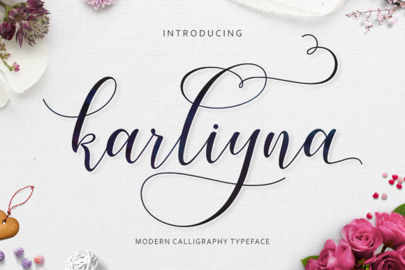 Print on Demand: Karliyna Script & Handwritten Font By Jamalodin - Image 1