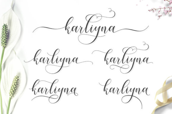 Print on Demand: Karliyna Script & Handwritten Font By Jamalodin - Image 7