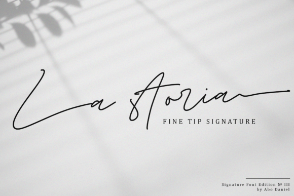 Print on Demand: La Storia Script & Handwritten Font By Abodaniel