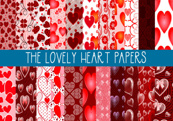 Print on Demand: The Lovely Heart Papers Graphic Patterns By capeairforce
