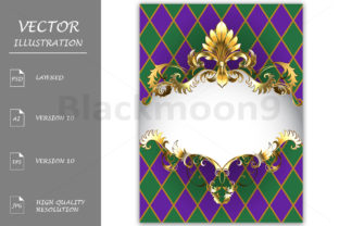 Download Free Luxury Banner Mardi Gras Graphic By Blackmoon9 Creative Fabrica for Cricut Explore, Silhouette and other cutting machines.