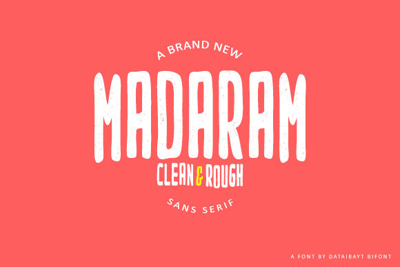 Print on Demand: Madaram Sans Serif Font By dataibayt