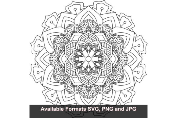 Download Free Mandala Art 292 Graphic Graphic By Iwantto Us Creative Fabrica for Cricut Explore, Silhouette and other cutting machines.