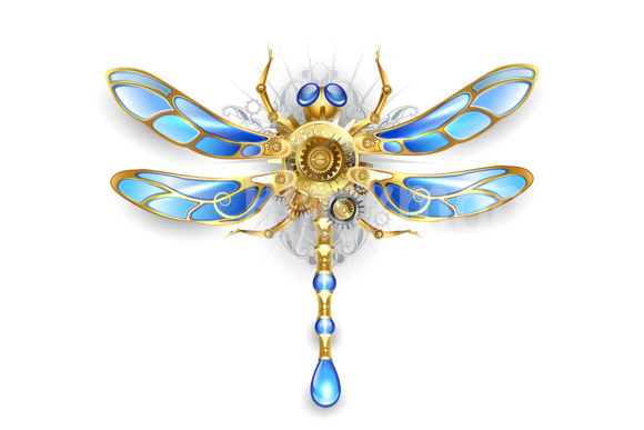 Mechanical Dragonfly ( Steampunk ) Graphic Illustrations By Blackmoon9