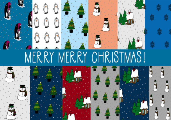 Print on Demand: Merry Merry Christmas Graphic Patterns By CapeAirForce