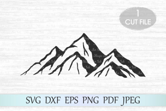Download Free Mountains Graphic Graphic By Magicartlab Creative Fabrica for Cricut Explore, Silhouette and other cutting machines.