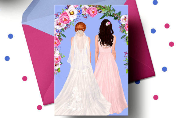 Wedding Clipart Brides Clipart Graphic Illustrations By LeCoqDesign - Image 4