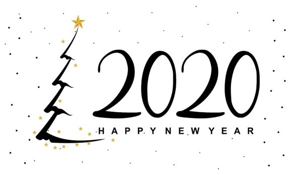 Download Free Happy New Year 2020 Calendar 2020 Logo Graphic By Deemka Studio for Cricut Explore, Silhouette and other cutting machines.