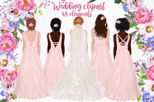 Print on Demand: Wedding Clipart Brides Clipart Graphic Illustrations By LeCoqDesign