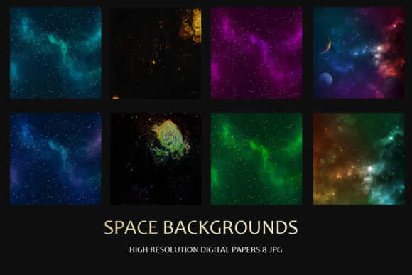 Print on Demand: Space Backgrounds Graphic Textures By SIRIUSTR