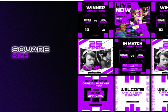 Print on Demand: Social Media E Sport Template Graphic Graphic Templates By ovoz.graphics