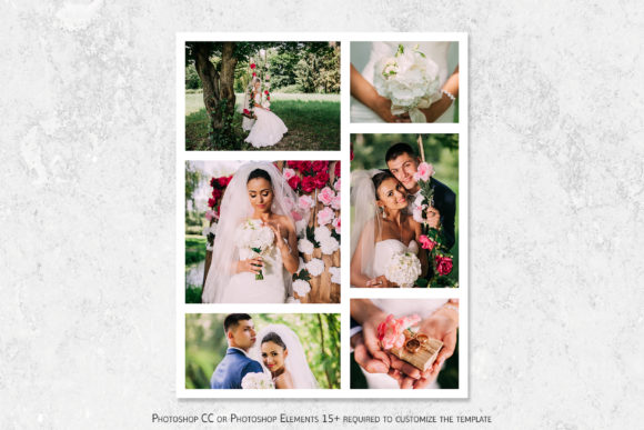 Photo Collage Temlate Graphic Print Templates By DesignCafeArt