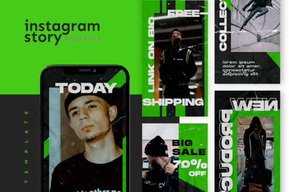 Print on Demand: Instagram Story Template Graphic Graphic Templates By ovoz.graphics - Image 1