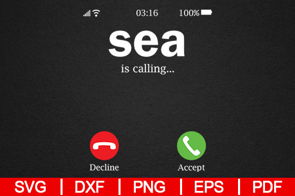 Download Free Sea Is Calling Graphic By Artistcreativedesign Creative Fabrica SVG Cut Files