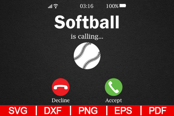 Download Free Softball Is Calling Graphic By Artistcreativedesign Creative for Cricut Explore, Silhouette and other cutting machines.