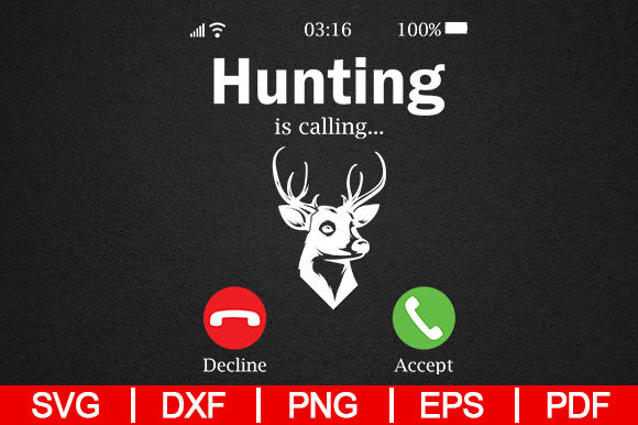 Hunting Never Stops Quotes Svg Design Graphic By