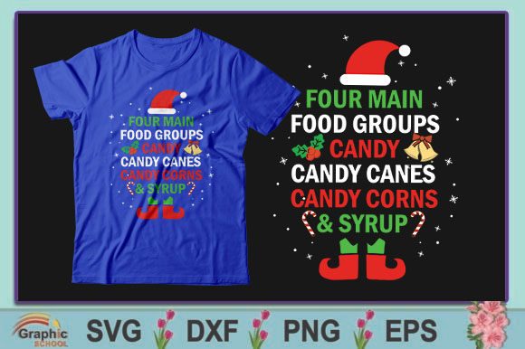Download Free Four Main Food Groups Candy Candy Canes Graphic By Graphic for Cricut Explore, Silhouette and other cutting machines.