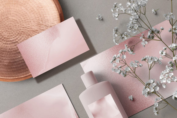 Print on Demand: Pink Watercolor Background Graphic Textures By DAYDESIGN