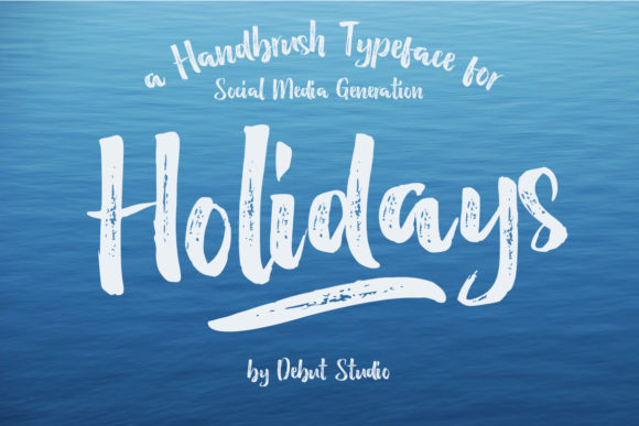 Print on Demand: Holidays Script & Handwritten Font By Debut Studio